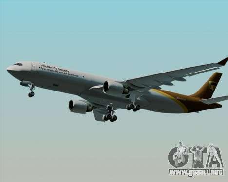 Airbus A330-300P2F UPS Airlines para visión interna GTA San Andreas