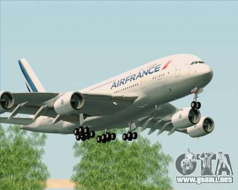 Airbus A380-861 Air France para GTA San Andreas left