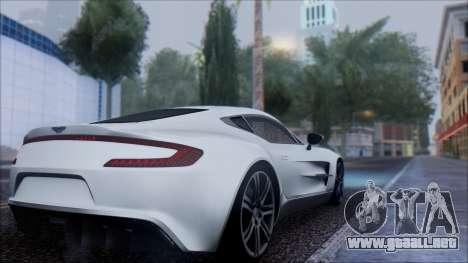 Aston Martin One-77 para GTA San Andreas left