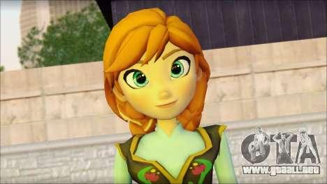 Princess Anna (Frozen) para GTA San Andreas tercera pantalla