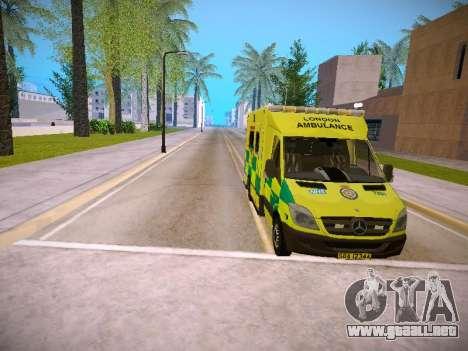 Mercedes-Benz Sprinter London Ambulance para la vista superior GTA San Andreas