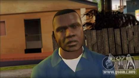 Franklin from GTA 5 para GTA San Andreas tercera pantalla