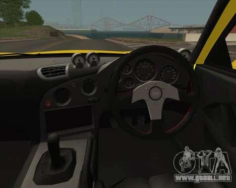 Mazda RX-7 FD3S A-Spec para visión interna GTA San Andreas