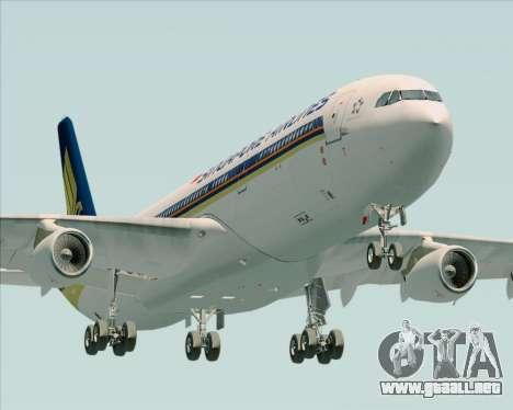 Airbus A340-313 Singapore Airlines para visión interna GTA San Andreas