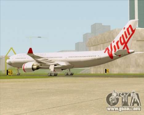 Airbus A330-200 Virgin Australia para GTA San Andreas vista posterior izquierda