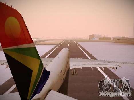 Airbus A340-300 South African Airways para las ruedas de GTA San Andreas