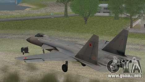 Sukhoi SU-47 Berkut from H.A.W.X. 2 Stealth Skin para GTA San Andreas left