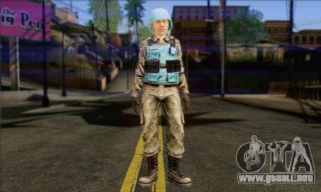 Una de las fuerzas de paz de la ONU (Postal 3) para GTA San Andreas