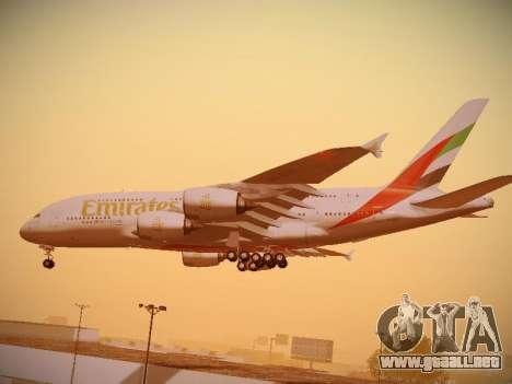 Airbus A380-800 Emirates para la vista superior GTA San Andreas