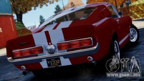 Shelby Cobra GT500 1967 para GTA 4 left