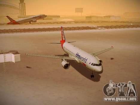 Airbus A320-214 TAM Oneworld para GTA San Andreas vista hacia atrás