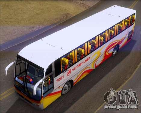 Marcopolo Victory Liner 7001 para GTA San Andreas vista hacia atrás