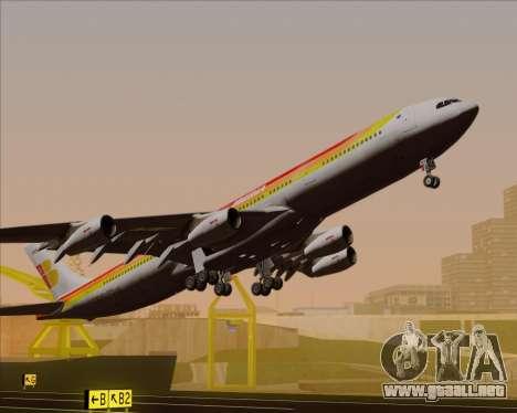 Airbus A340 -313 Iberia para la vista superior GTA San Andreas