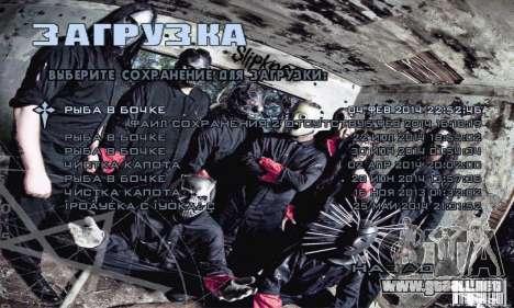 Metal Menu - Slipknot para GTA San Andreas tercera pantalla