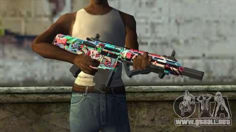 Graffiti Assault rifle v2 para GTA San Andreas tercera pantalla