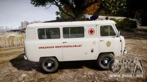 UAZ-39629 ambulancia Hungría para GTA 4 left