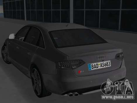 Audi S4 (B8) 2010 - Metallischen para GTA Vice City visión correcta