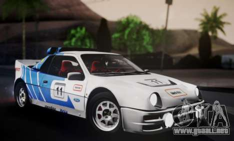 Ford RS200 Evolution 1985 para GTA San Andreas interior