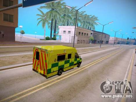 Mercedes-Benz Sprinter London Ambulance para visión interna GTA San Andreas