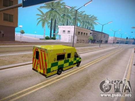 Mercedes-Benz Sprinter London Ambulance para visión interna GTA San Andreas