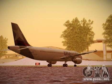Airbus A320-214 LAN Oneworld para la visión correcta GTA San Andreas