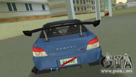 Subaru Impreza WRX STI 2006 Type 2 para GTA Vice City visión correcta