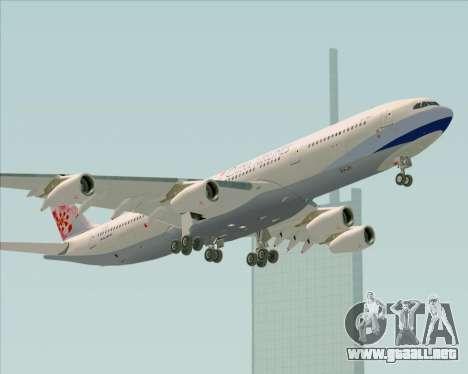 Airbus A340-313 China Airlines para la vista superior GTA San Andreas