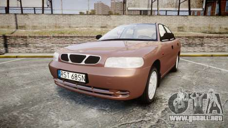 Daewoo Nubira I Sedan S PL 1997 para GTA 4