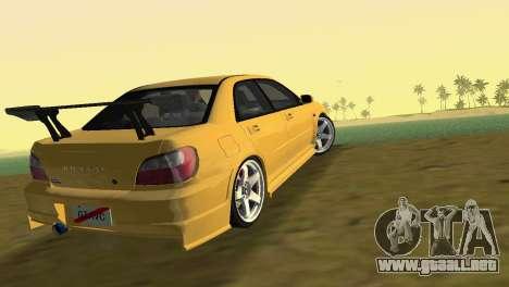 Subaru Impreza WRX 2002 Type 5 para GTA Vice City left
