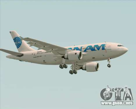 Airbus A310-324 Pan American World Airways para vista inferior GTA San Andreas