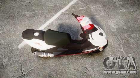 Yamaha Aerox para GTA 4 visión correcta