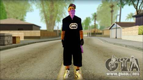 East Side Ballas Skin 2 para GTA San Andreas