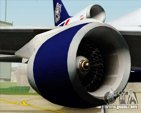 Lockheed L-1011 TriStar British Airways para vista lateral GTA San Andreas