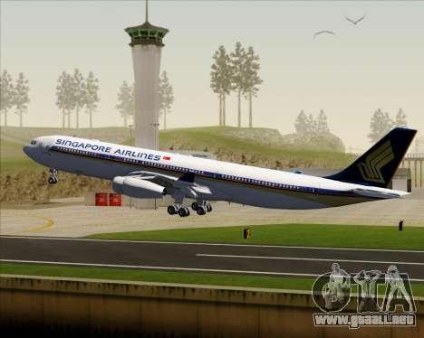 Airbus A340-313 Singapore Airlines para GTA San Andreas