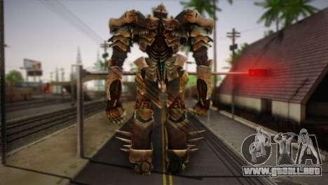 Grimlock v1 para GTA San Andreas segunda pantalla