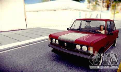 Fiat 125P Shark para GTA San Andreas vista posterior izquierda