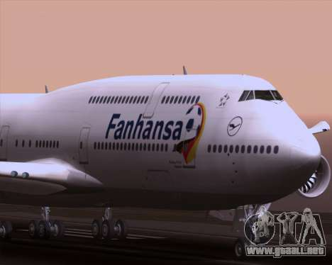 Boeing 747-830 Lufthansa - Fanhansa para la vista superior GTA San Andreas
