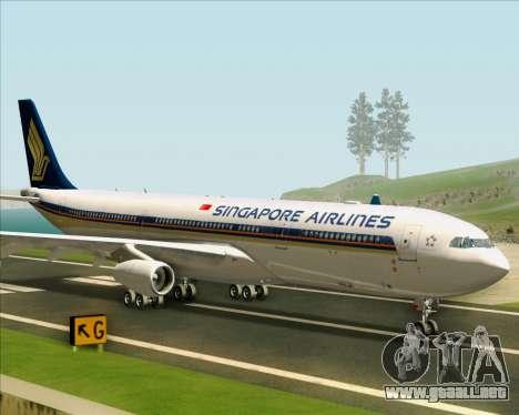 Airbus A340-313 Singapore Airlines para GTA San Andreas vista posterior izquierda
