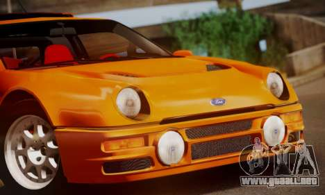 Ford RS200 Evolution 1985 para la vista superior GTA San Andreas