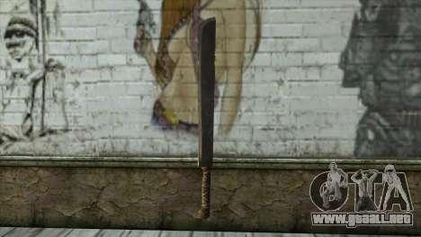Machete from Assassins Creed 4: Freedom Cry para GTA San Andreas