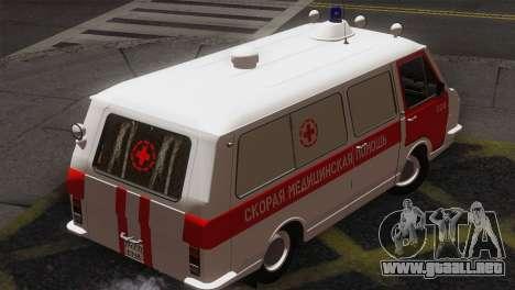 RAF 22031 Letonia - Ambulancia para GTA San Andreas vista posterior izquierda
