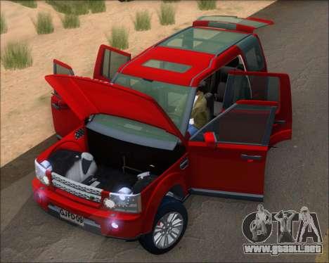 Land Rover Discovery 4 para visión interna GTA San Andreas