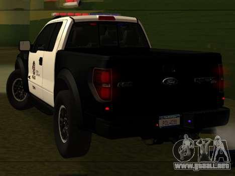 LAPD Ford F-150 Raptor para GTA San Andreas left