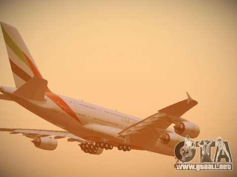 Airbus A380-800 Emirates para el motor de GTA San Andreas