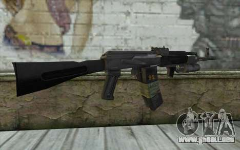 El AK-101 con seguro a nuestro (Battlefield 2) para GTA San Andreas segunda pantalla