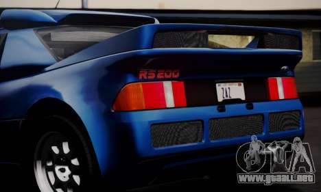 Ford RS200 Evolution 1985 para vista inferior GTA San Andreas