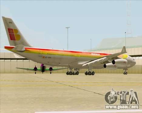 Airbus A340 -313 Iberia para la visión correcta GTA San Andreas