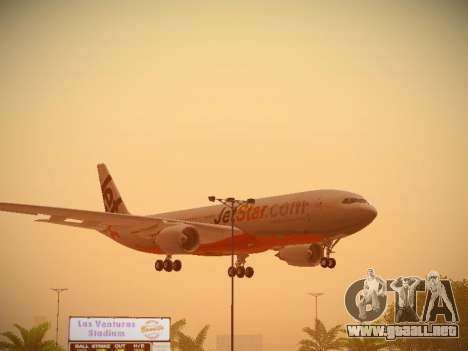 Airbus A330-200 Jetstar Airways para la vista superior GTA San Andreas