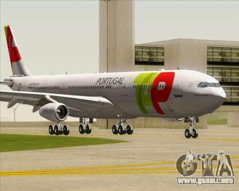 Airbus A340-312 TAP Portugal para GTA San Andreas left