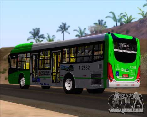 Caio Induscar Millennium BRT Viacao Gato Preto para GTA San Andreas vista posterior izquierda